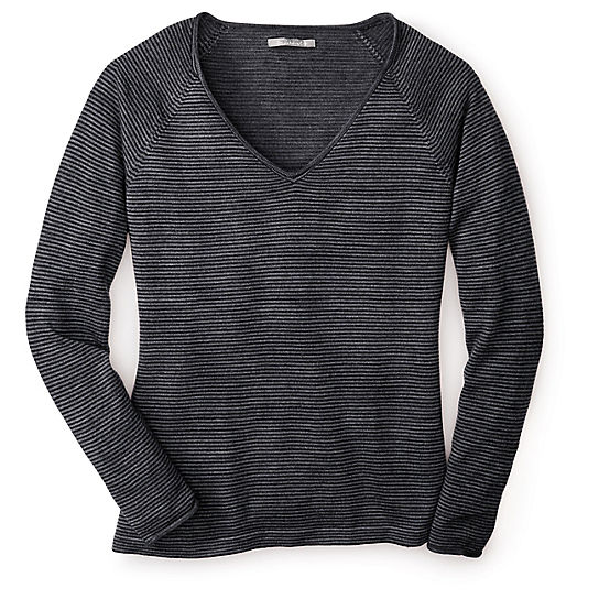 Women's Granite Falls Micro Stripe V-Neck Sweater