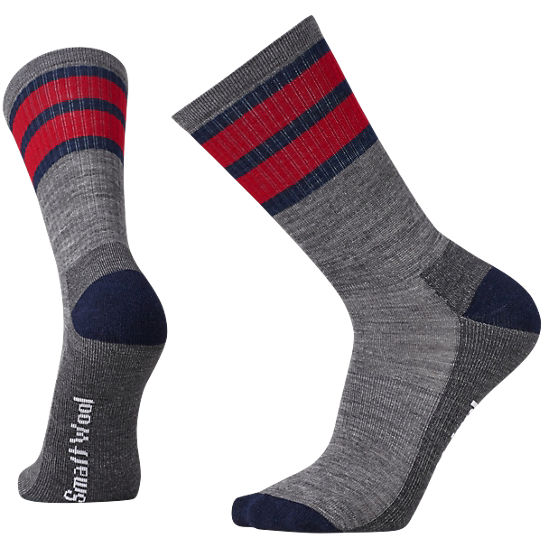 Men's Striped Hike Light Crew Socks