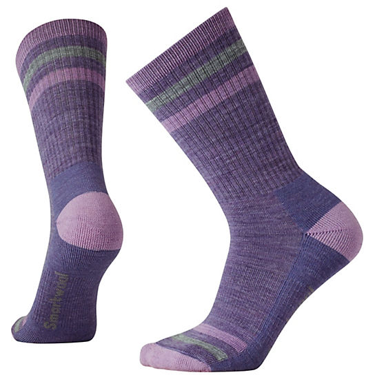 Women's Striped Hike Light Crew Socks