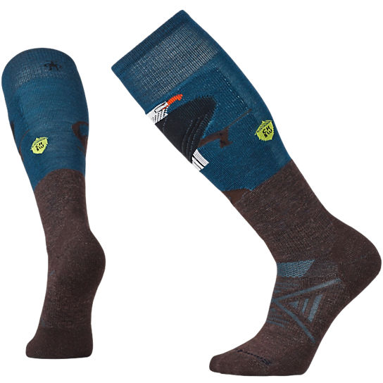 Men's PhD® Ski Medium: Charley Harper Glacial Bay Eagle Socks
