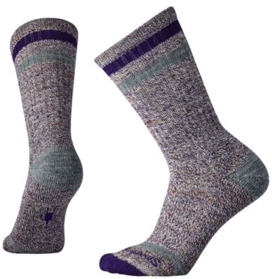 SmartWool Women's Birkie Crew Socks - Mountain Purple Heather SW:010098:592:M::1: