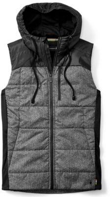 SmartWool Men's Double Propulsion 60 Pattern Hoody Vest - Black SW:016019:001:S::1: