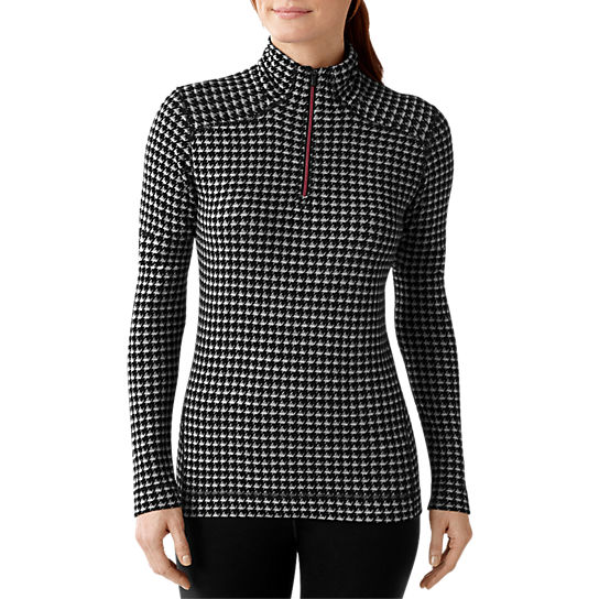 Women 39 s merino 250 base layer pattern 1 4 zip smartwool for Womens base layer shirt