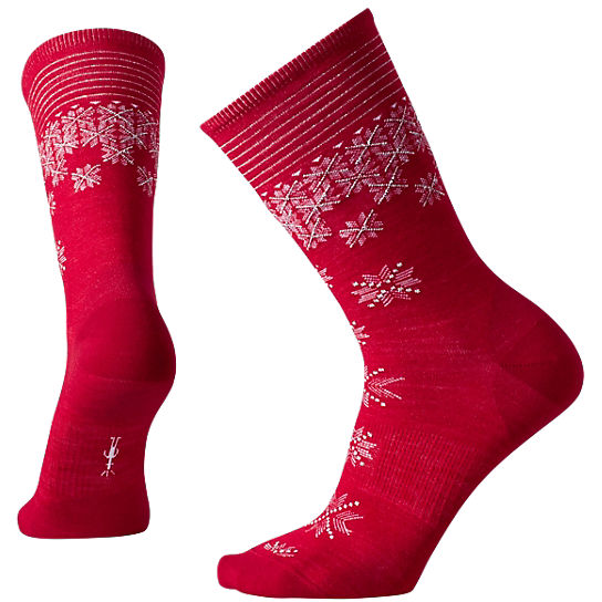 Women's Shimmering Snow Crew Socks