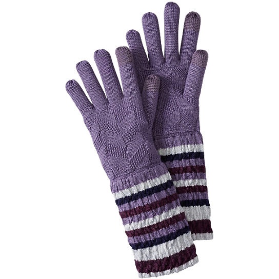 Women's Striped Chevron Gloves