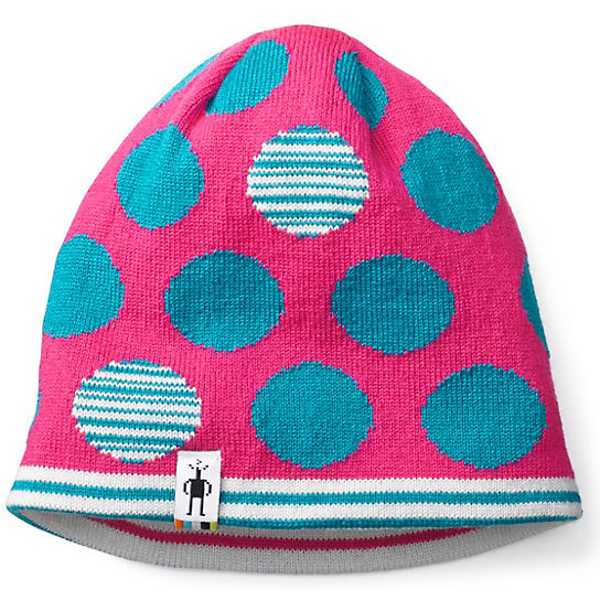 Kids' Reversible Wintersport Dot Hat