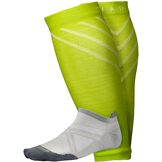 2 Pack Men's PhD® Run Ultra Light Micro Socks, Compression Calf Sleeve