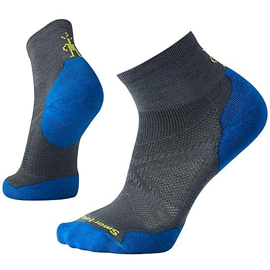 Smartwool Men S Phd 174 Run Light Elite Mini Socks Merino Wool