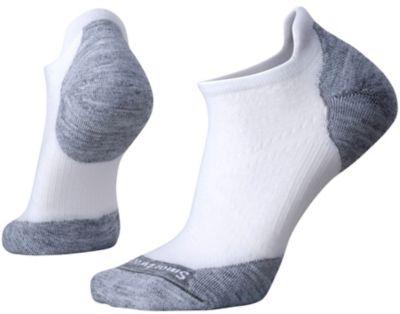 SmartWool Women's PhD® Run Light Elite Micro Socks - White/Light Gray SW:0SW210:367:S::1: