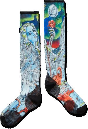 PhD® Ski Ultra Light Grateful Dead X Smartwool Print Socks