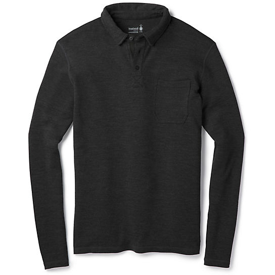 Men's Merino 250 Long Sleeve Polo Shirt