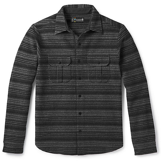 Men's Anchor Line Stripe Shirt Jacket