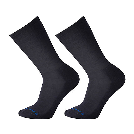 Men's Heathered Rib Crew Socks 2 Pack