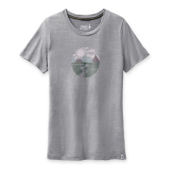 Women's Merino Sport 150 Sunset Stream Graphic Tee