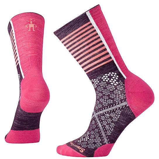 Women's PhD® Cycle Ultra Light Pattern Crew Socks