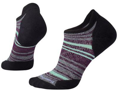 SmartWool Women's PhD® Run Light Elite Striped Micro Socks - Black SW:000772:001:S::1: