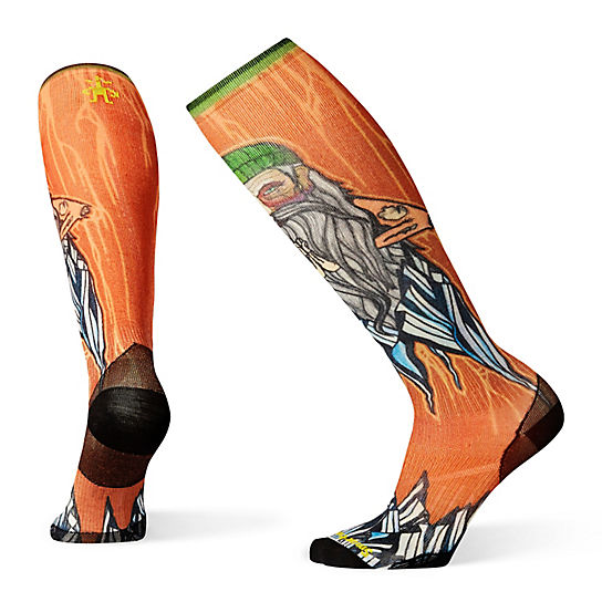 PhD® Ski Ultra Light Old Man Winter Print Socks