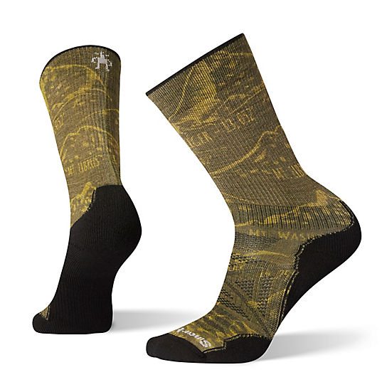 Men's PhD® Outdoor Light Prominent Peaks Print Crew Socks