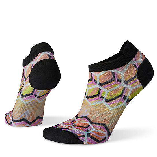 Women's PhD® Run Ultra Light Hex Print Micro Socks