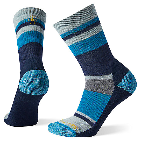 Women's Striped Light Hiking Crew Socks