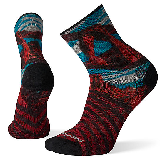 Men's PhD® Outdoor Light Arches Print Mid Crew Hiking Socks