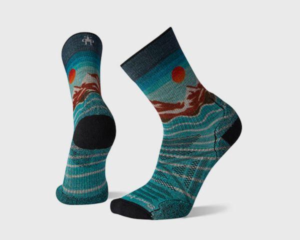 Men's PhD® Outdoor Light Front Range Print Hiking Crew Socks