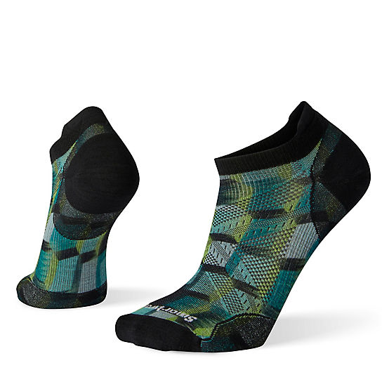 PhD® Run Ultra Light Stacked Block Print Micro Socks
