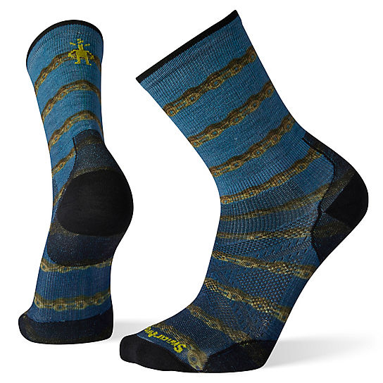 PhD® Cycle Ultra Light Chains Print Crew Socks