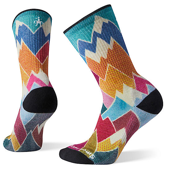 Women's Hike Light Mountain Print Crew Socks