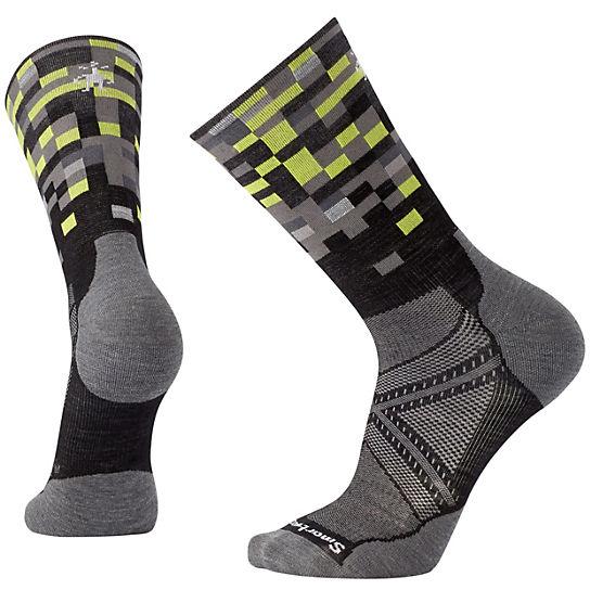 Smartwool Phd Run Light Elite Pattern Mesh Crew Socks