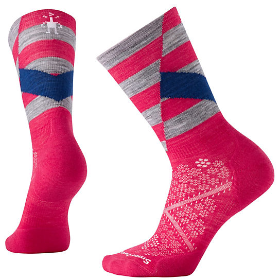 Women's PhD® Run Light Elite Pattern Crew Socks