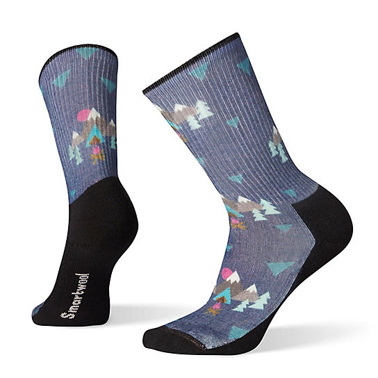 Women's Under the Stars Print Light Hiking Crew Socks