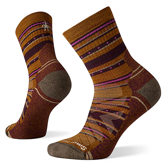 Women's Hike Light Cushion Stitch Stripe Mid Crew Socks