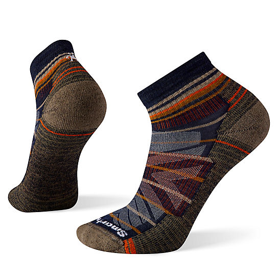 Men's Hike Light Cushion Pattern Ankle Socks
