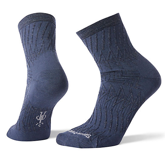 Women's Triangle Texture Mid Crew Socks