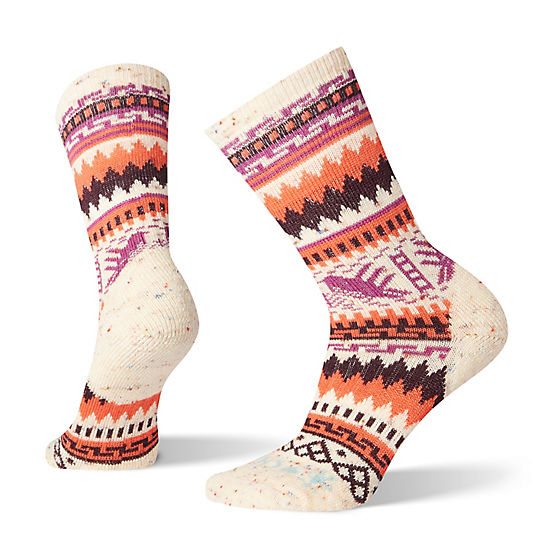 SmartWool Women's Premium CHUP Hummingbird Crew Socks (Multi Donegal)