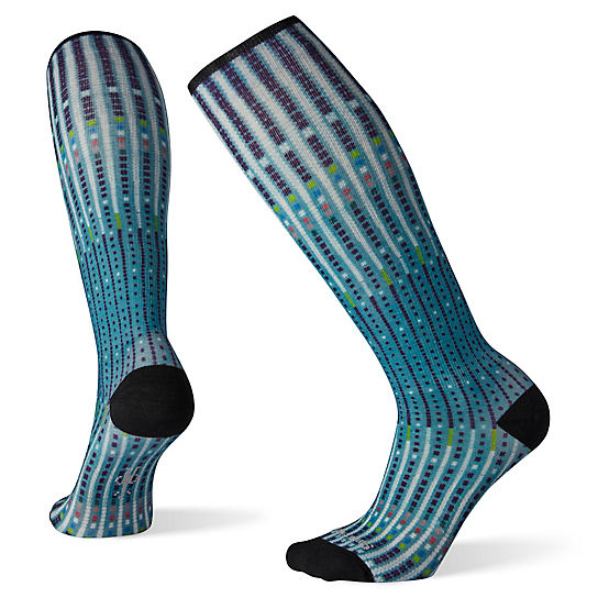 Women's Compression Virtual Voyager Print OTC Socks