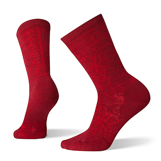 Women's Poinsettia Graphic Crew Socks