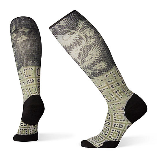 Women's Compression Sightseeing Sunflower Print OTC Socks