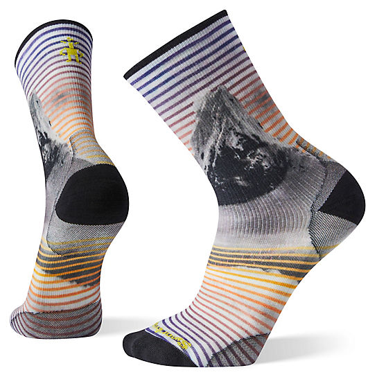 PhD® Outdoor Ultra Light Snow Summit Print Crew Socks