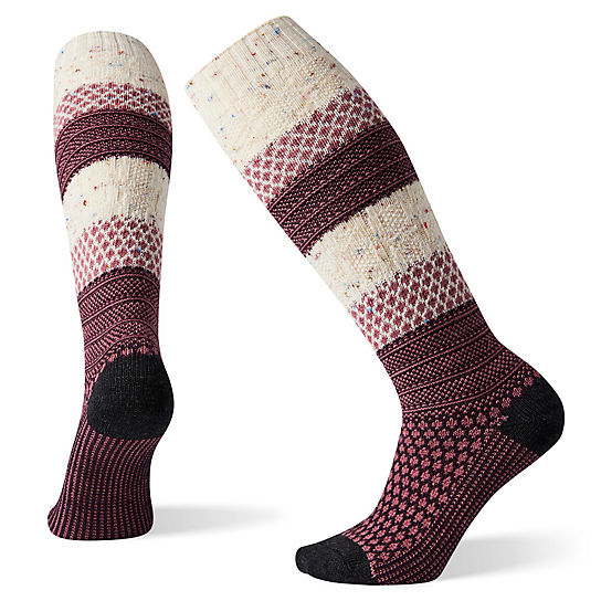 Women's Popcorn Cable Knee High Socks