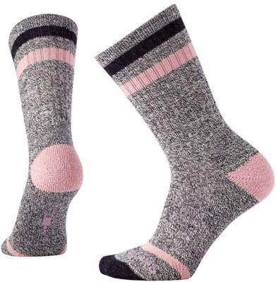 SmartWool Women's Birkie Crew Socks - Woodrose Heather SW:010098:595:M::1: