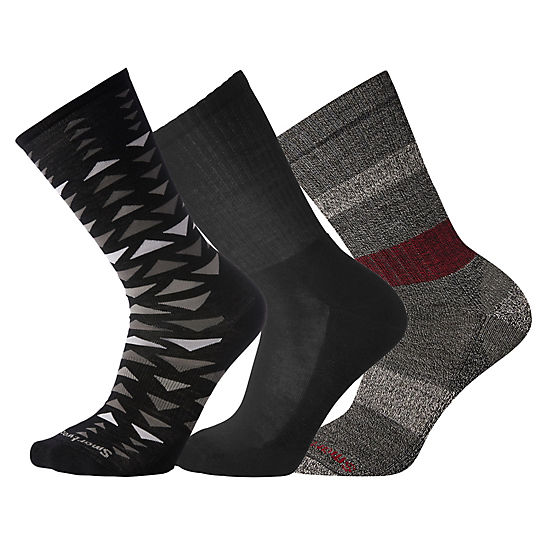 Men's Charcoal Socks Trio Gift Box