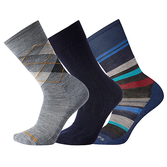 Men's Deep Navy Socks Trio Gift Box