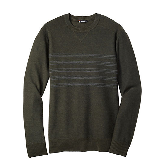 Men's Kiva Ridge Reverse Jersey Stripe Crew Sweater