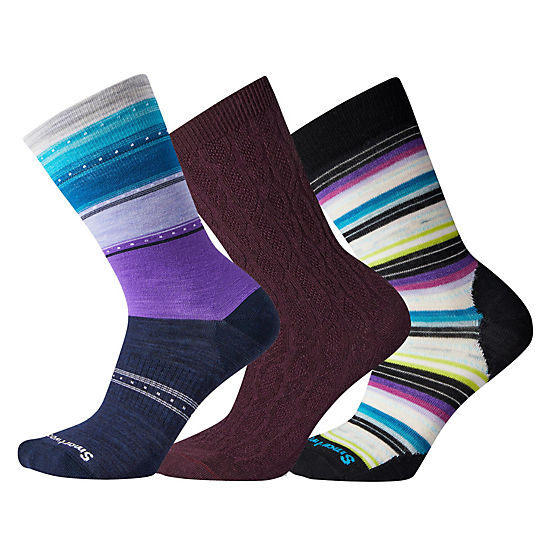 Women's Desert Orchid Socks Trio Gift Box