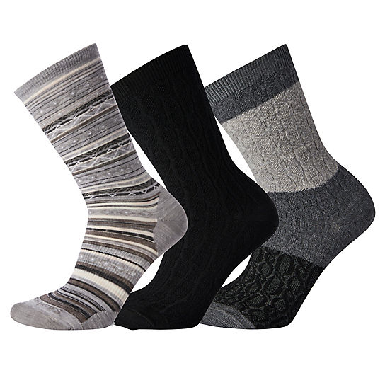 Women's Black Socks Trio Gift Box
