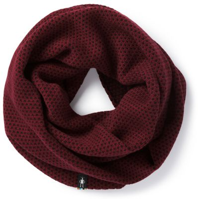 Get into your warm place with our Diamond Cascade Infinity Scarf. Subdued color and styling help highlight the heavy knit Merino blend. Reversible, meaning it's actually double infinity.