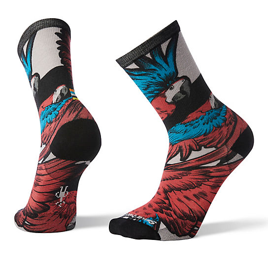 Men's Curated Pandemonium of Parrots Crew Socks