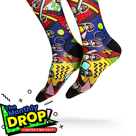 Drop in Print Crew Socks
